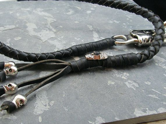 Leather Get Back Motorcycle Whip 31 by OldDogLeather on Etsy, $32.99