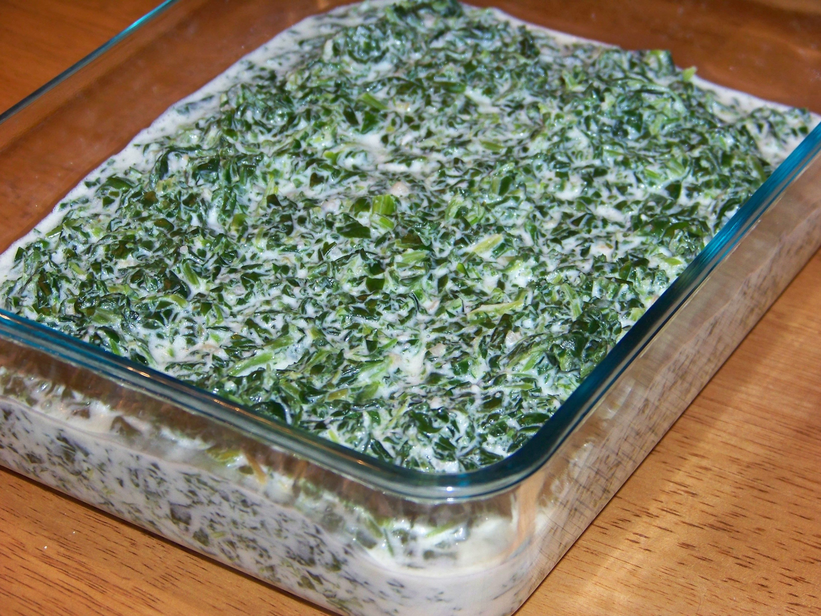 how to make creamed spinach with cream cheese
