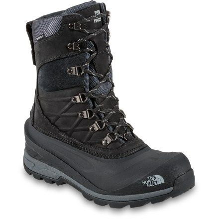 The North Face Men's Chilkat 400 Winter Boots Tnf Black/Dark Shadow Grey 12  | Products