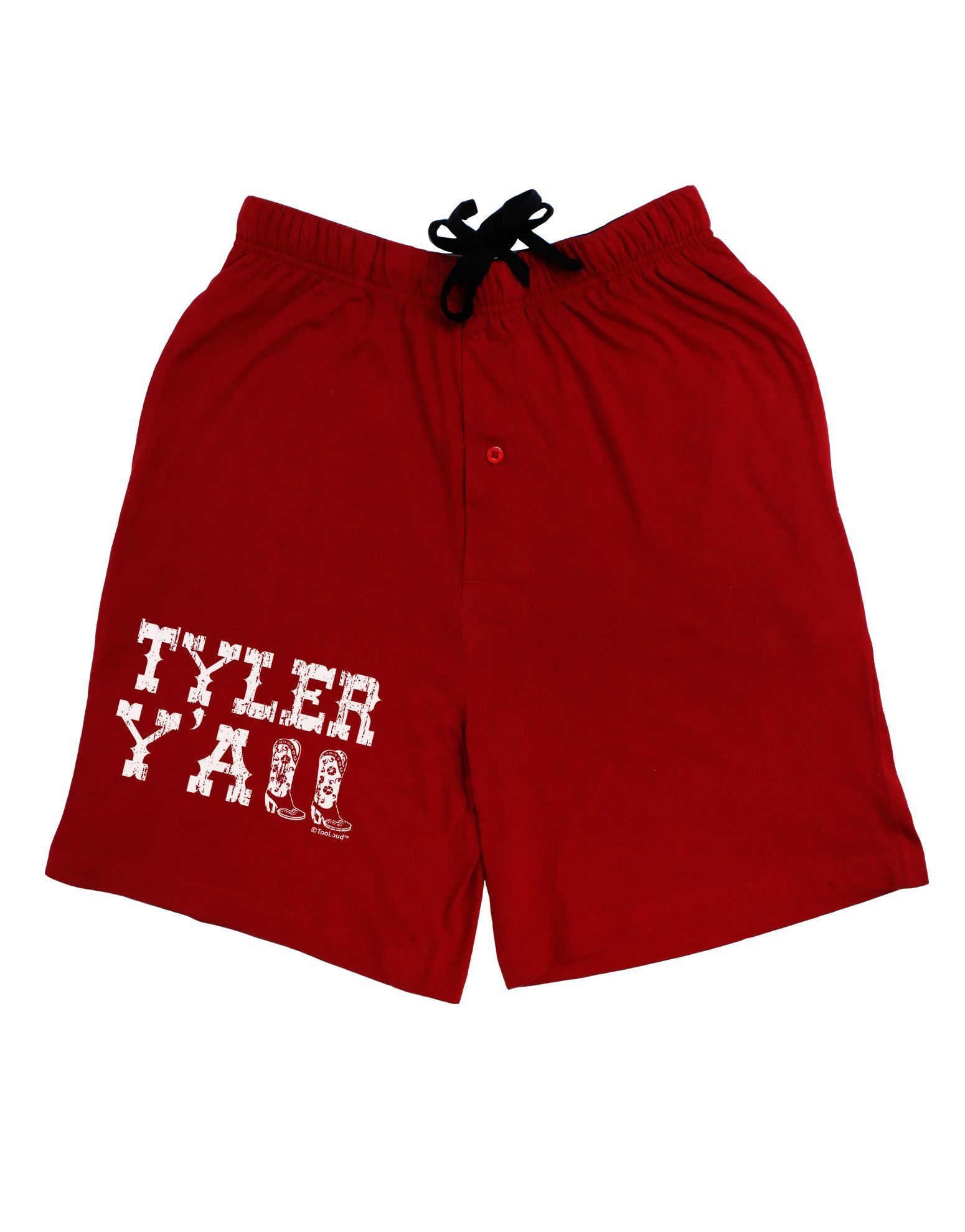 TooLoud Tyler Y'all - Southwestern Style Adult Lounge Shorts