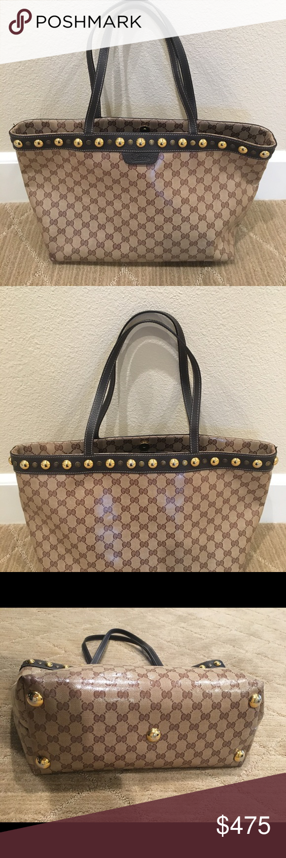 "f23bdb3a55de GUCCI CRYSTAL GG ""BABOUSKA"" TOTE Pre-Loved 100% Authentic GUCCI GG ""BABOUSKA""  Medium Tote Includes Dustbag Excellent Condition! Smoke Free Home Gucci Bags  ..."