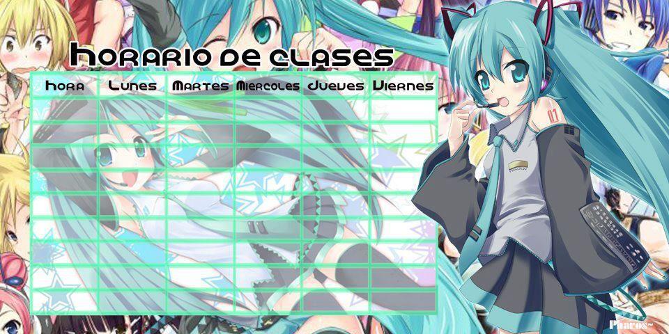 Horario De Clases Vocaloid Anime Pinterest Anime