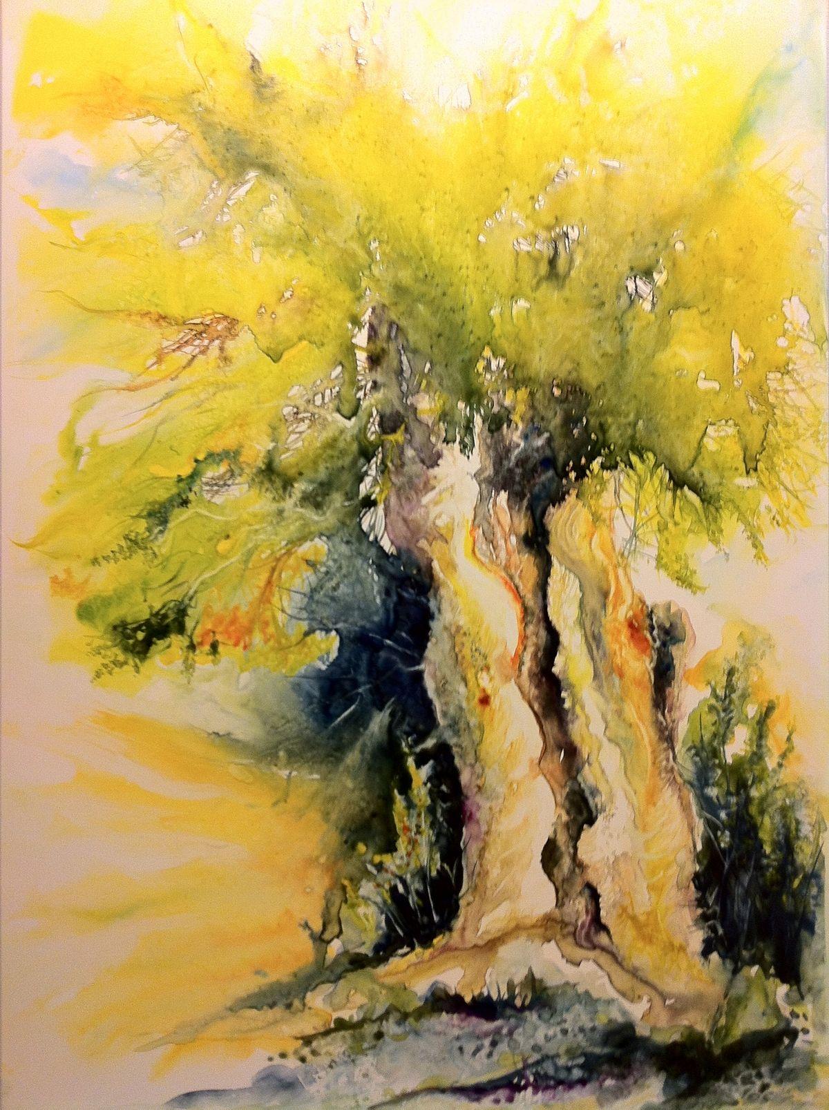 Aquarelle Sur Papier Yupo Art Inspiration Painting Charcoal