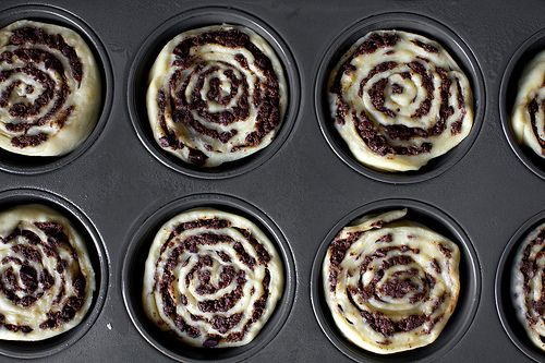 delicious chocolate swirl buns from smitten kitchen