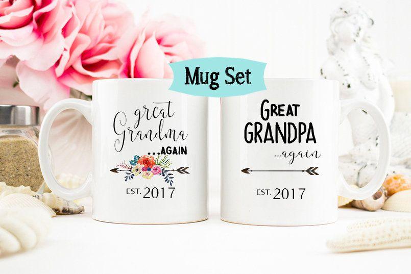 Grandma Again Mug Pregnancy Reveal To Grandma Baby Announcement Grandma Mug