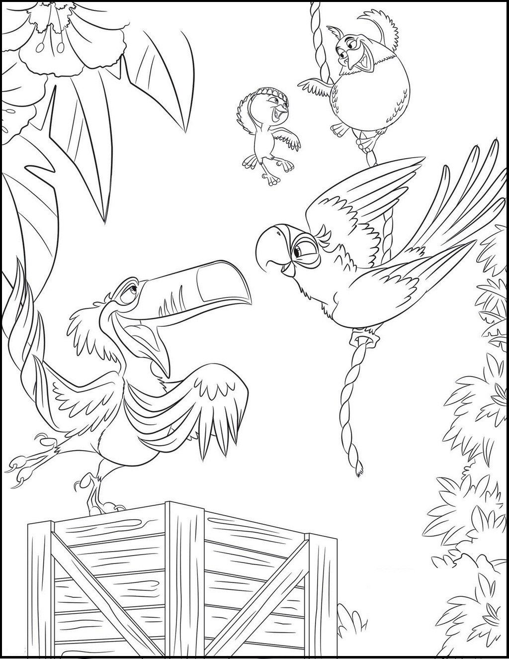 Rio Coloring And Drawing Page Coloring Pages Disney Coloring Pages Coloring Sheets