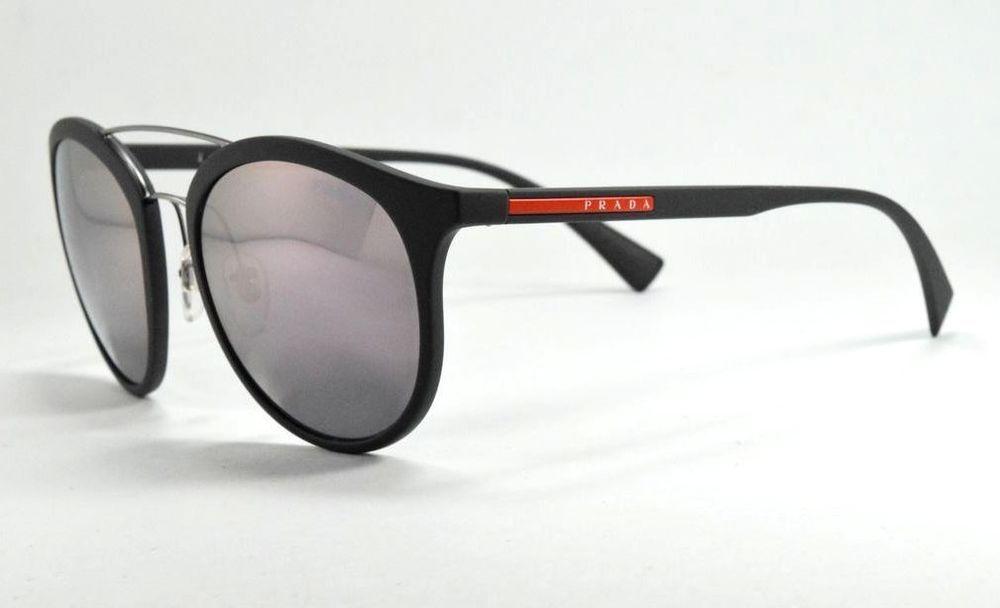 0e7f4c2822b Prada Sport Sunglasses SPS 04R TFZ-5T0 Matte Gray Solid Gray Mirror Lenses