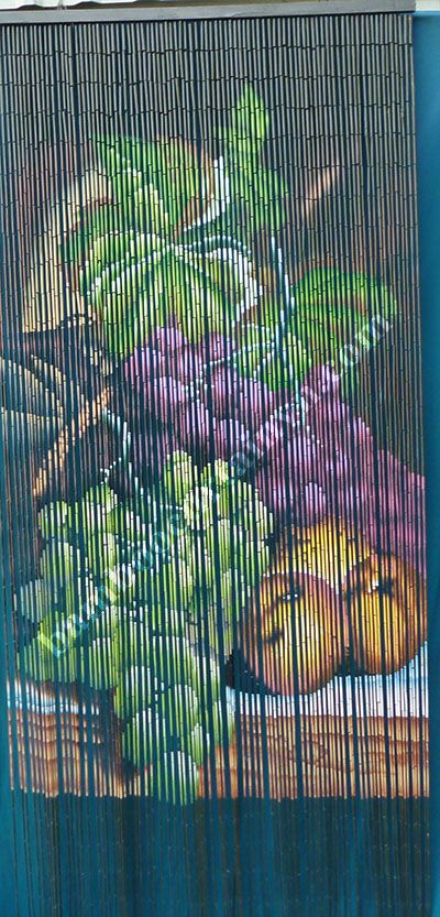 Bamboo Beaded Curtain Fruit Grapes Kitchen Doorway Room Divider Bamboo Bead Pinterest