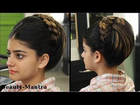 Indian Bridal Hairstyle Jura For Medium To Long Hair Youtube Indian Bridal Hairstyles Hairstyle Jura Long Hair Styles