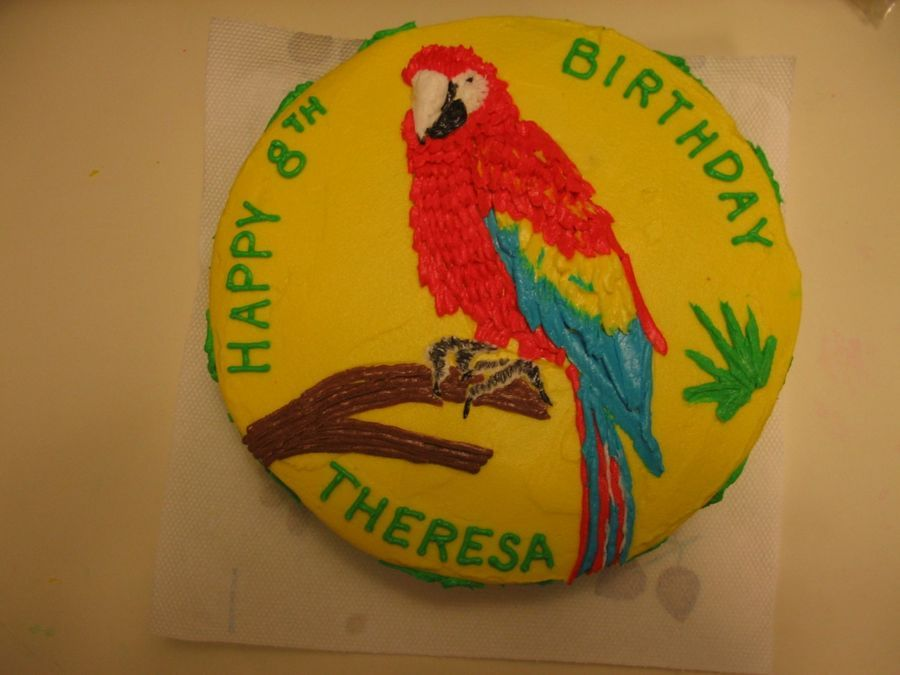 Parrot Cake on Cake Central kids stuff Pinterest Cake and