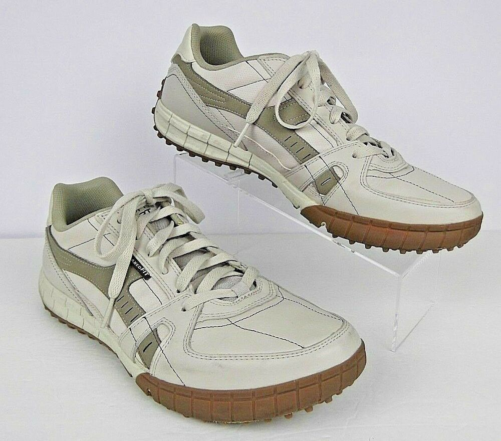 Skechers Relaxed Fit Shoes Size 11 Mens Memory Foam Beige
