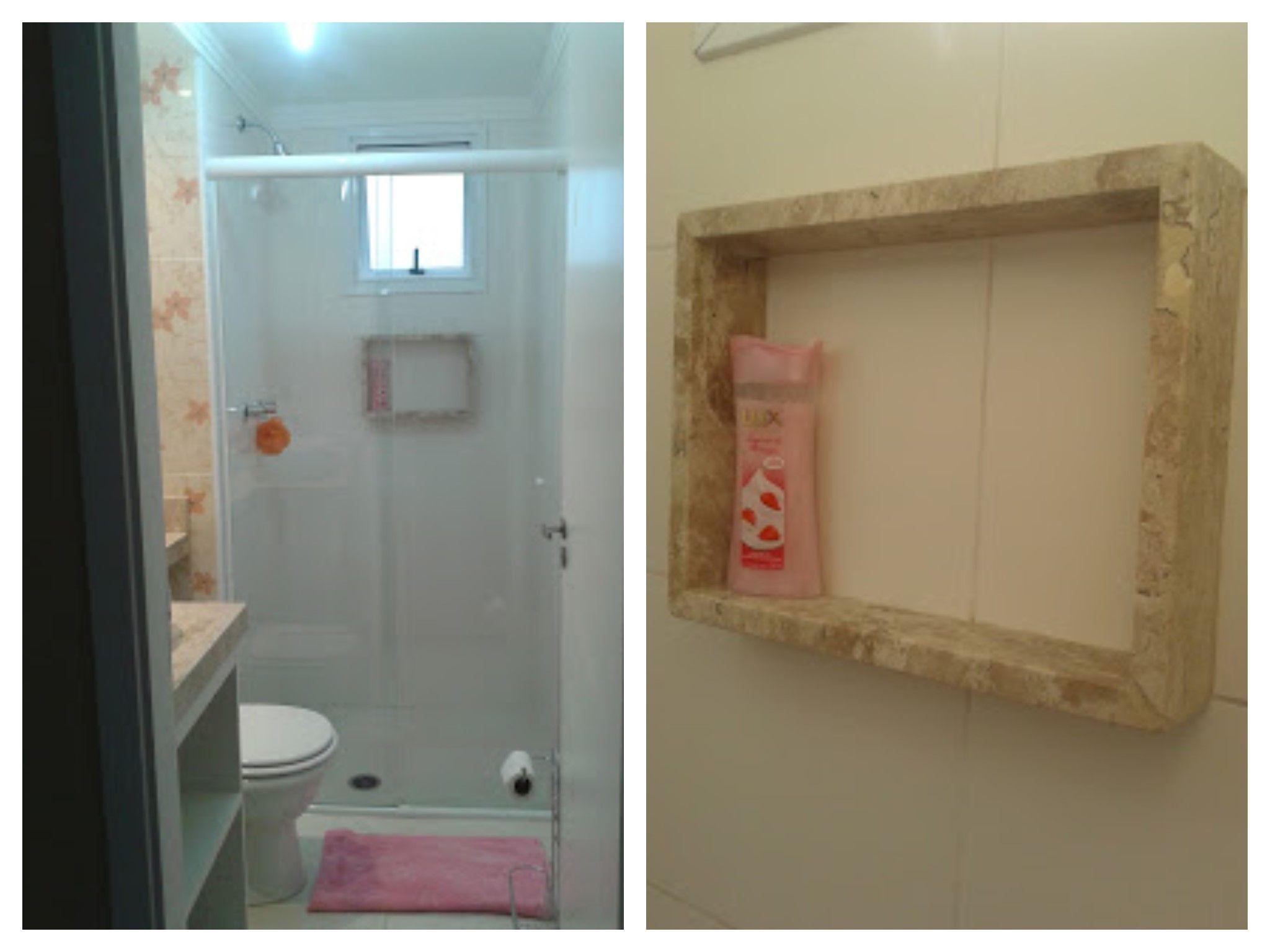 de Nicho para o box com o mesmo mármore da bancada da pia do banheiro  #6E492E 2048x1536 Bancada De Banheiro Em Marmore
