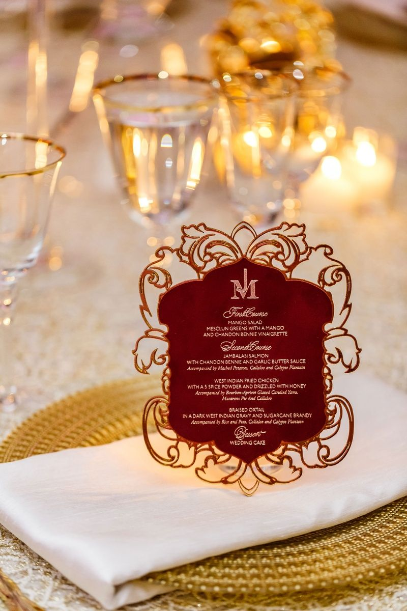 Laser-Cut Menu Card Details Photography: Amy Anaiz Photography Read ...