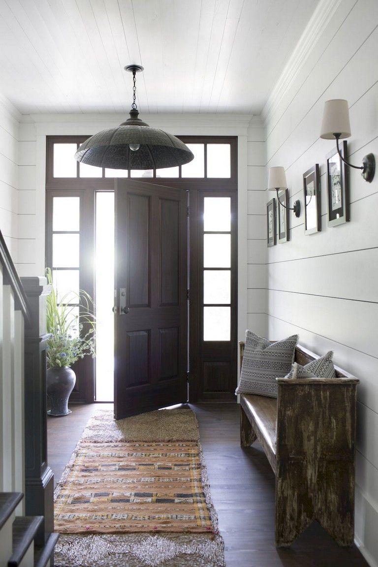35+ Wonderful Rustic Farmhouse Entryway Decorating Ideas