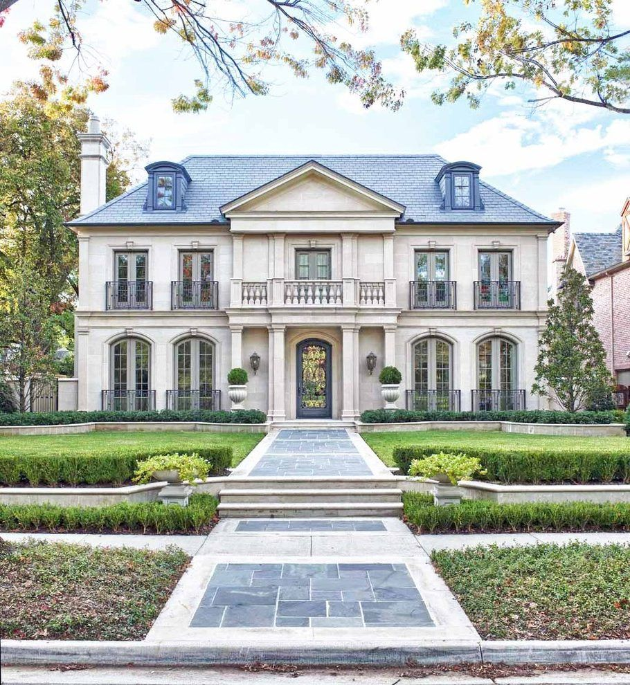 French Mediterranean House Design Exterior Traditional With French