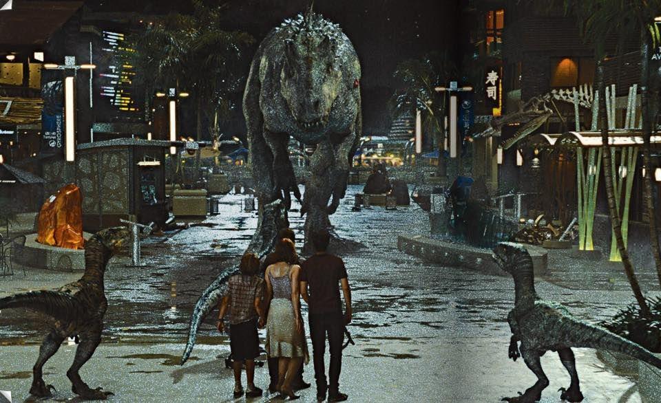 Image result for Jurassic world end fight raptors