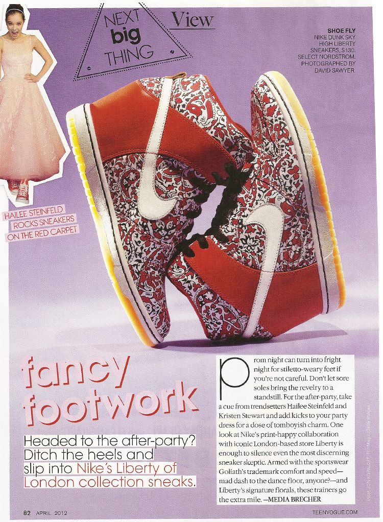Preview Nike Liberty of London Sneaker Wedges www.teenvogue.com April 2012