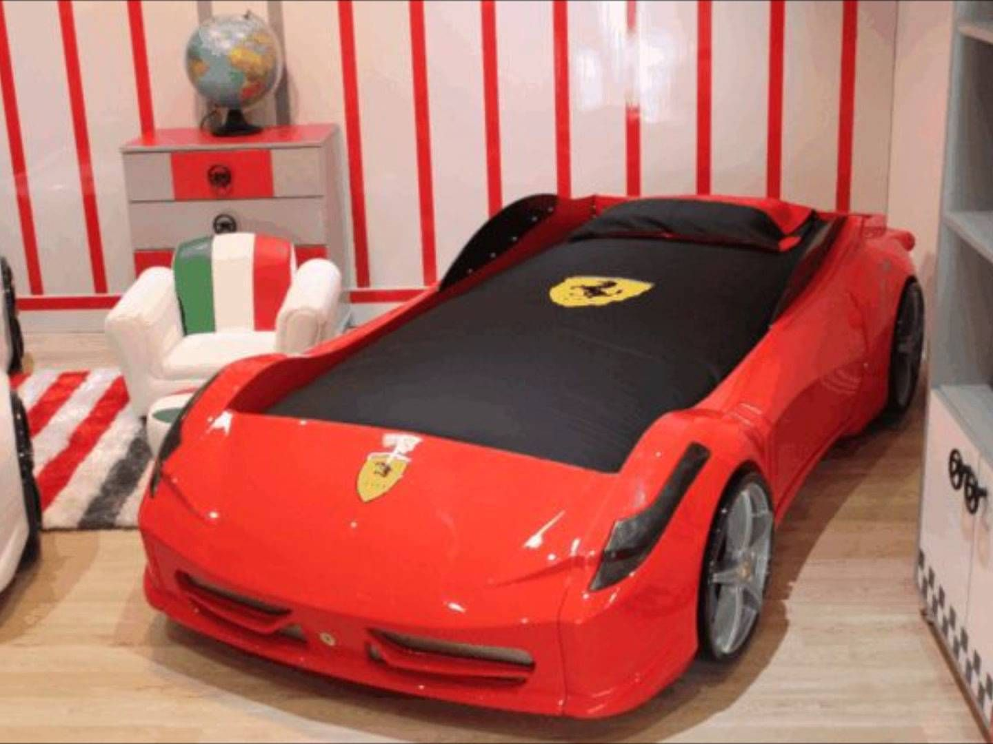 image result for ferrari bedroom kids car