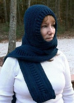 Hooded Scarf Pattern - A pattern made to wear for the head and neck all combined into one. This scarf is sure to keep you warm!