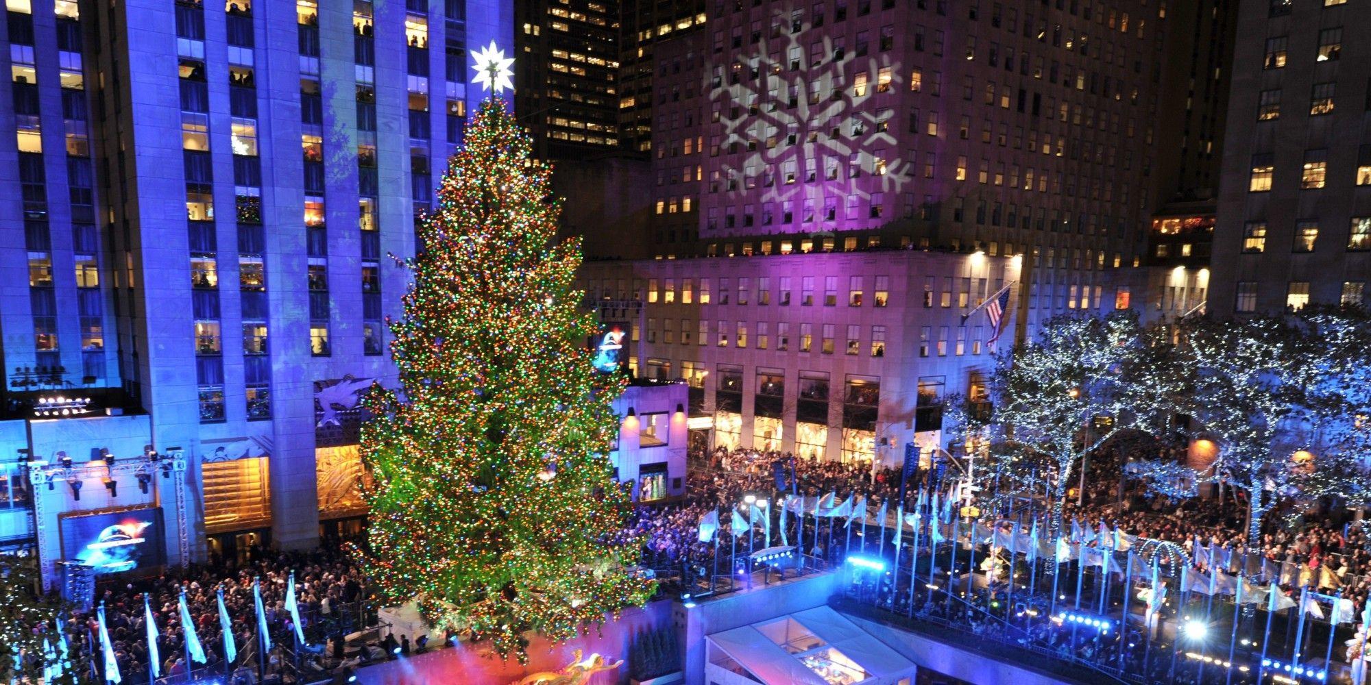 Albero Di Natale New York.Us Culture Christmas Rockefeller Tree Luci Di Natale New York Natale Decorazioni Di Natale