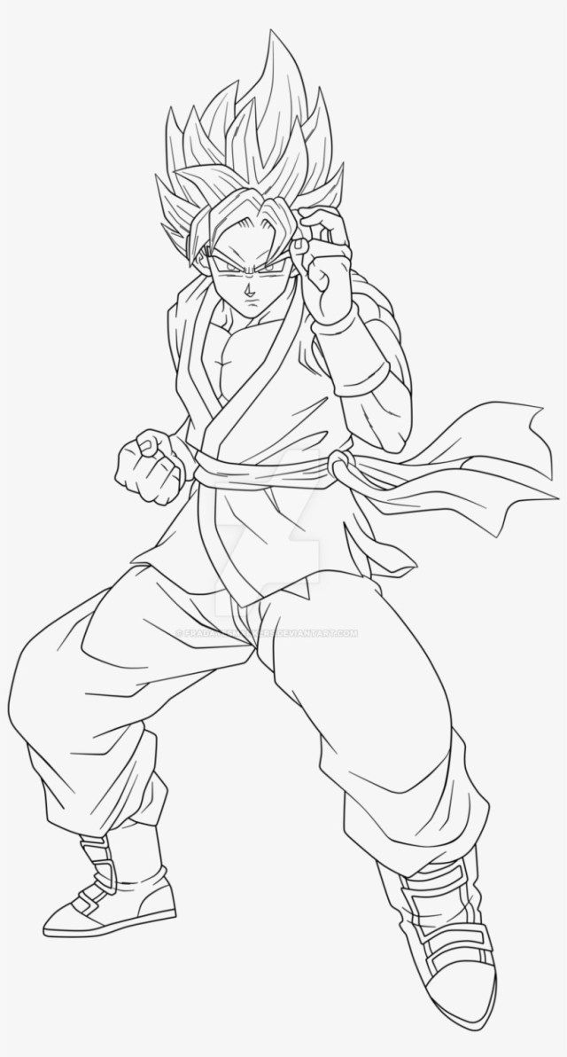 30 Excellent Picture Of Goku Coloring Pages Albanysinsanity Com Goku Pics Goku Drawing Dragon Ball Artwork