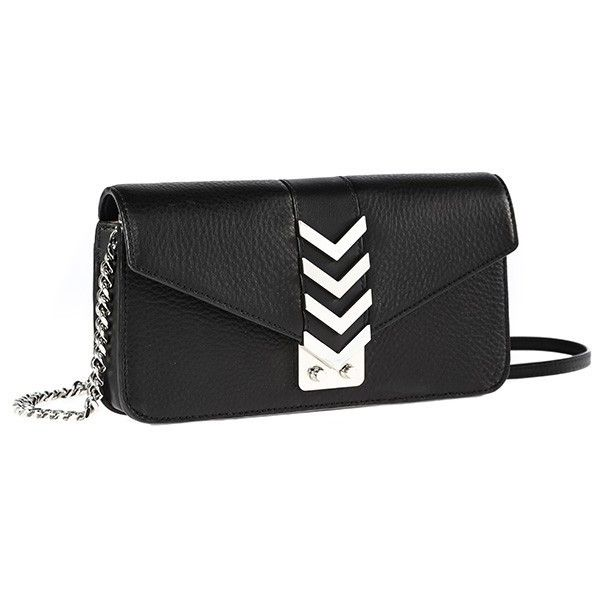 Mackage Nynna-C | Black Mini Envelope Crossbody Bag ($175) ❤ liked on Polyvore featuring bags, handbags, shoulder bags, leather crossbody handbags, genuine leather handbags, mini crossbody, leather crossbody purses and leather crossbody