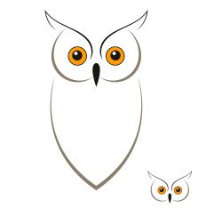 Owl Vector Art Illustration Trop Chouette Hibou Hibou