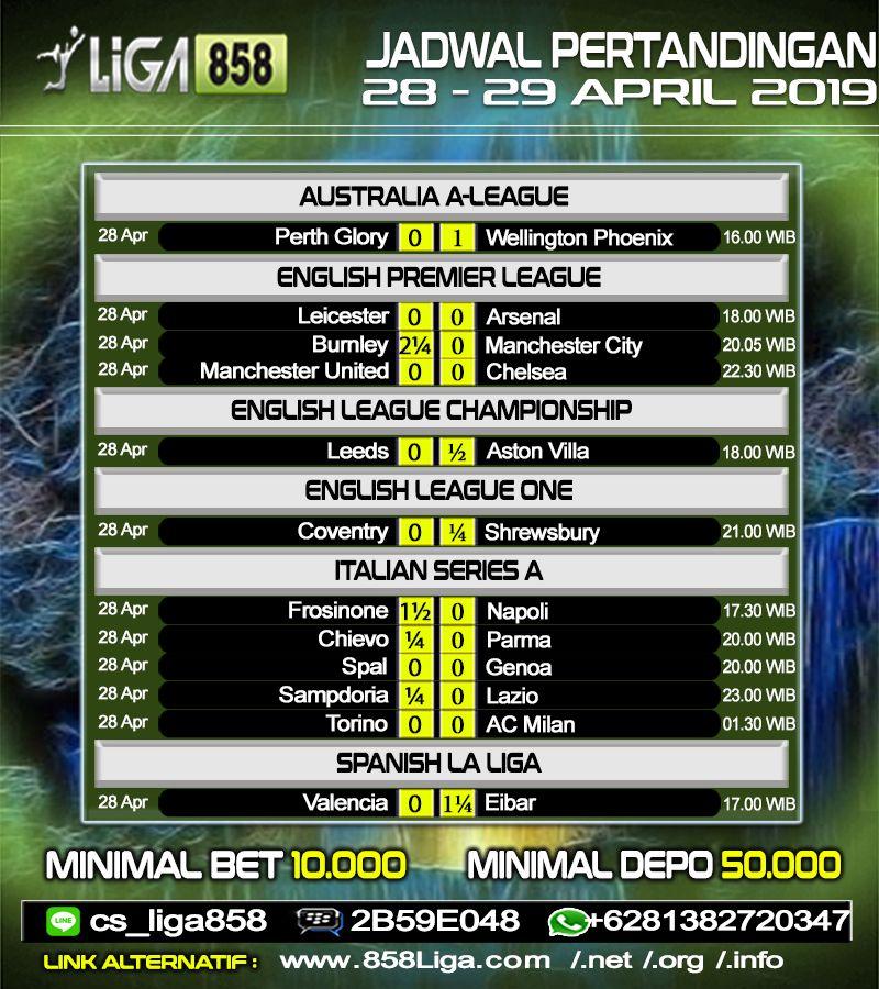 Jadwal Pertandingan Bola | English league, English premier ...