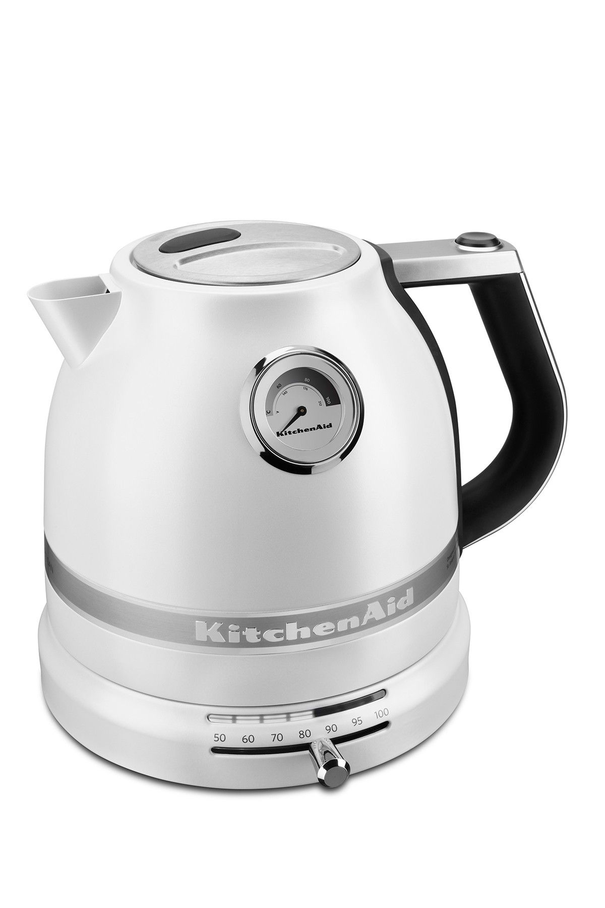 Frosted pearl white pro line series electric kettle by