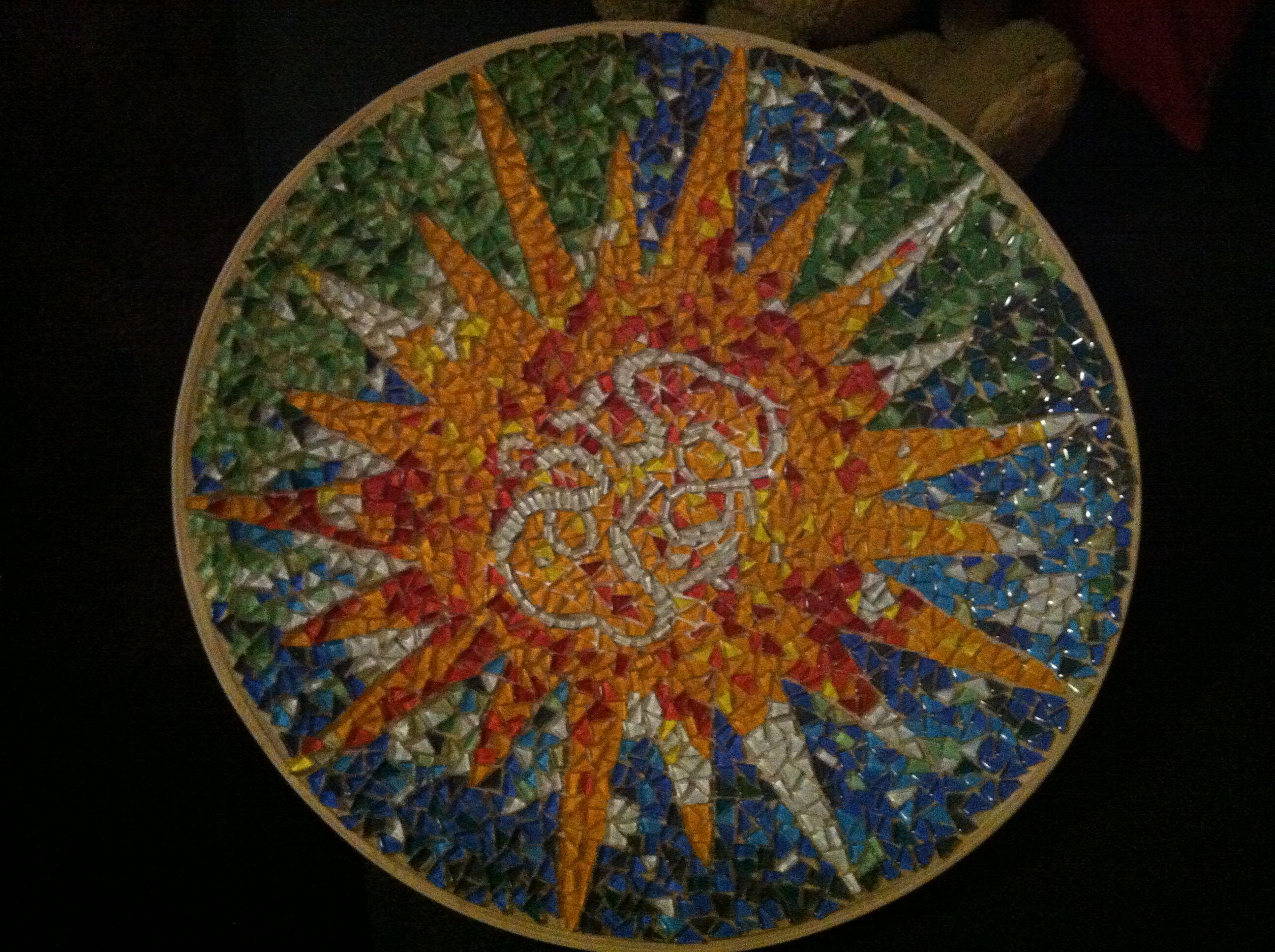 Diam 46 cm mozaik Mozaïek