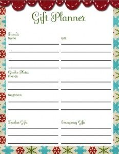 christmas friend gift planner for the holidays pinterest