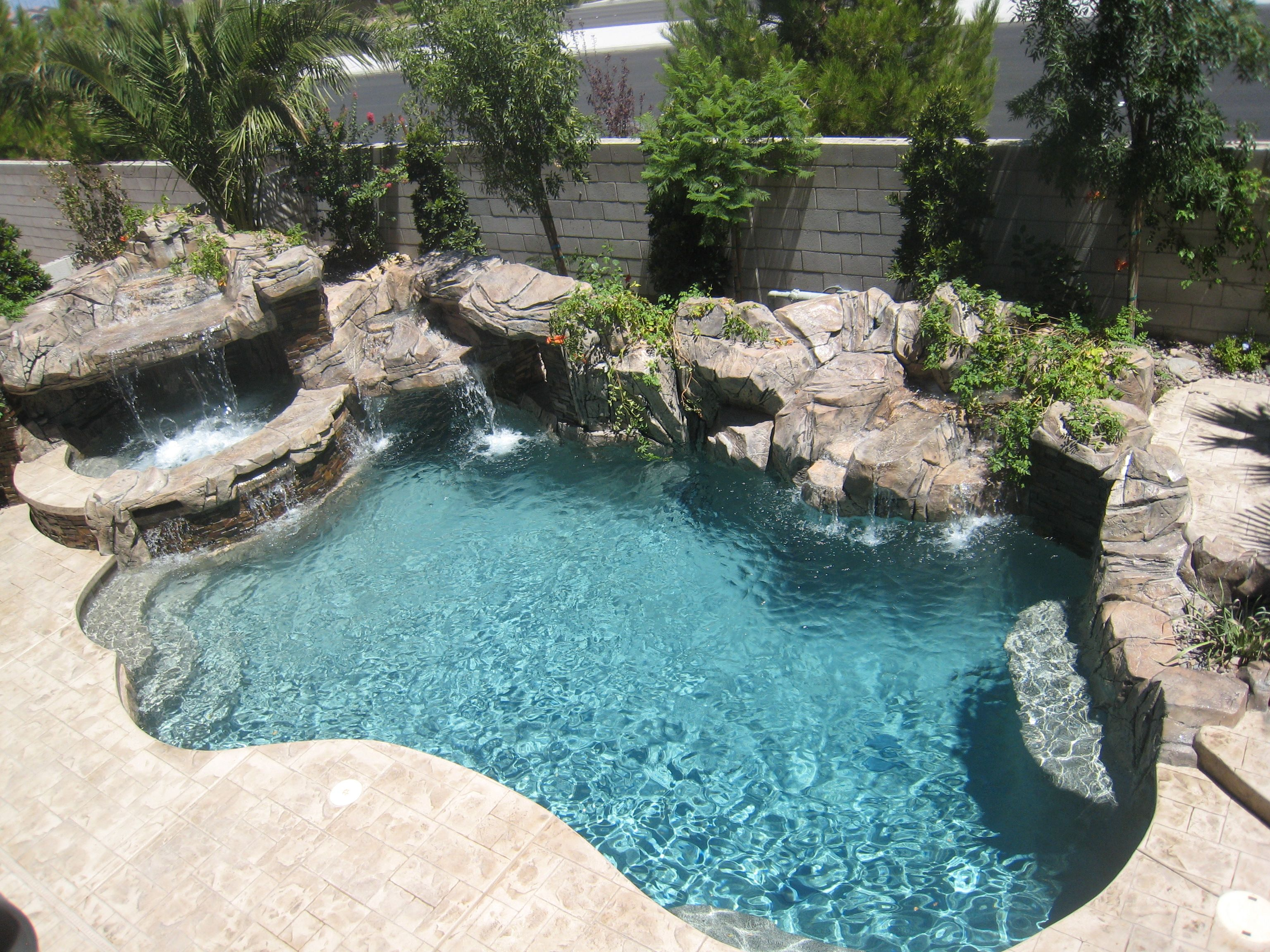 Image Result For Fiberglass Pool With Boulders Backyard Pool