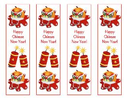 happy chinese new year free printable bookmarks set of 4
