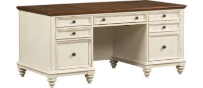 Home Offices, Southport Executive Desk   Distressed White, Home Offices |  Havertys Furniture