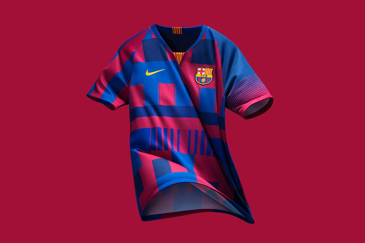 133a2145b Nike   FC Barcelona Unveil Mash-Up Jersey for 20th Anniversary ...