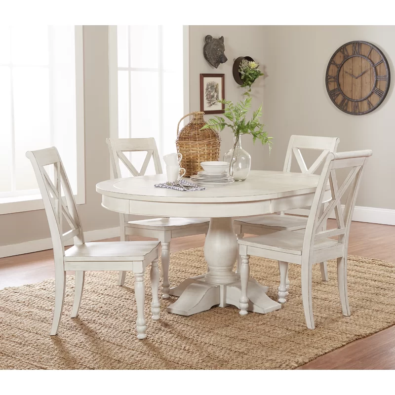Clive 5 Piece Extendable Dining Set With Images Dining Table