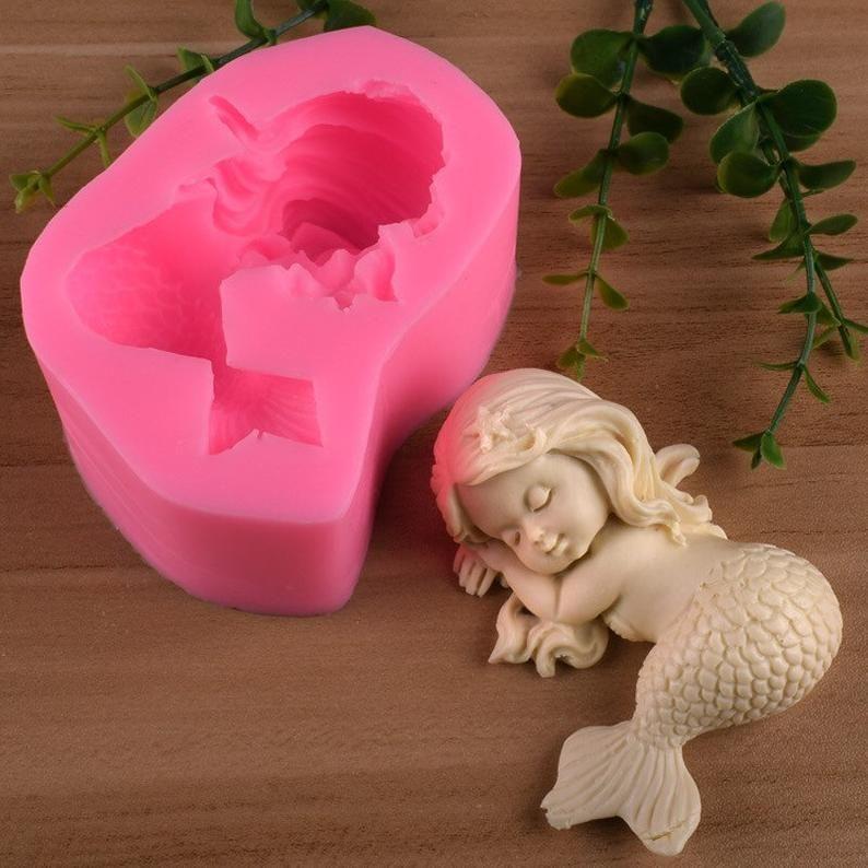 sea resin molds soap making supplies Mermaid Girl Mold soap making soap making molds Candle Molds girl mold, mold for soap Mermaid