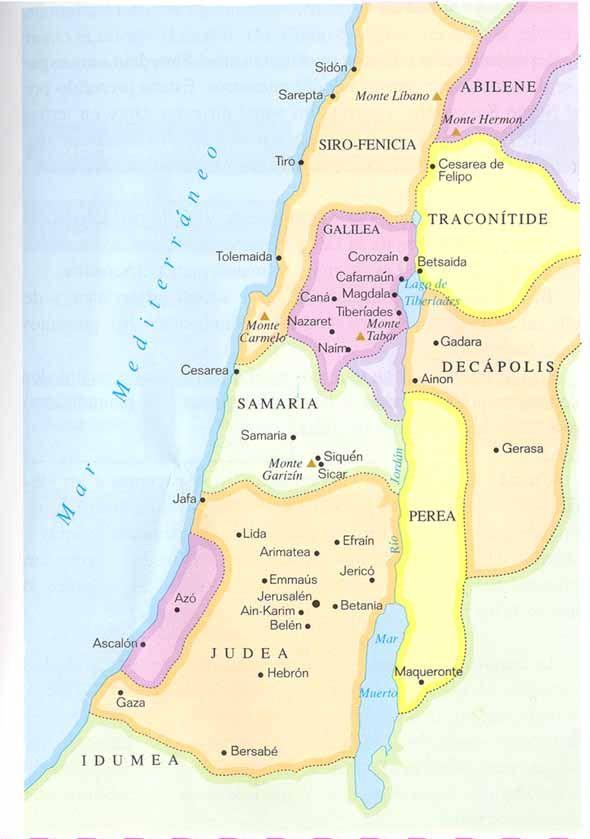 Galilea En Tiempos De Jesucristo Línea De Tiempo Biblia De Jesus Jesús De Nazareth