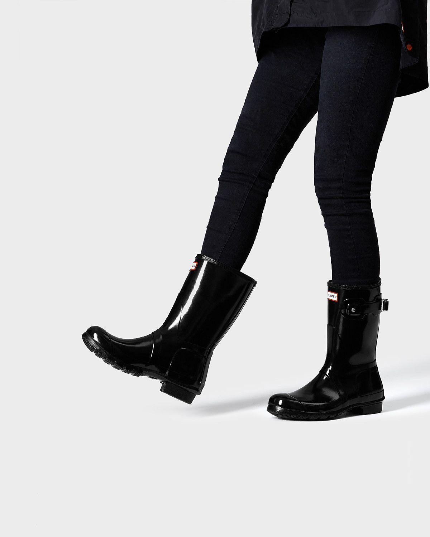 b64e9e4fd3aa Women s original short gloss rain boots