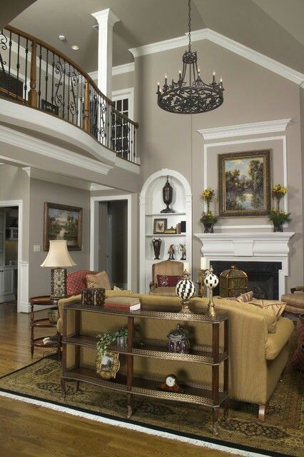 Living Room Balcony Design: Family Room Colors, Transitional