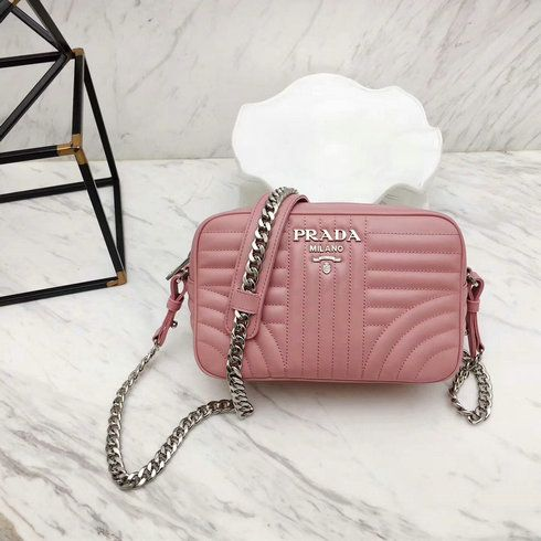 699e77200b Prada Diagramme Leather Cross-body Bag in Pink