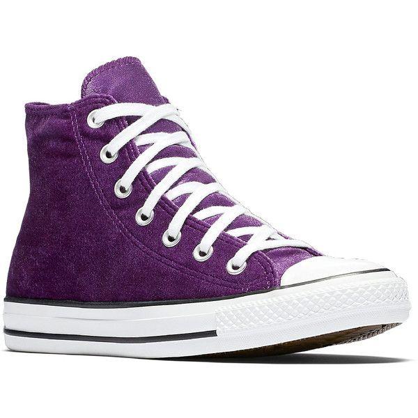 Velvet sneakers, Purple converse