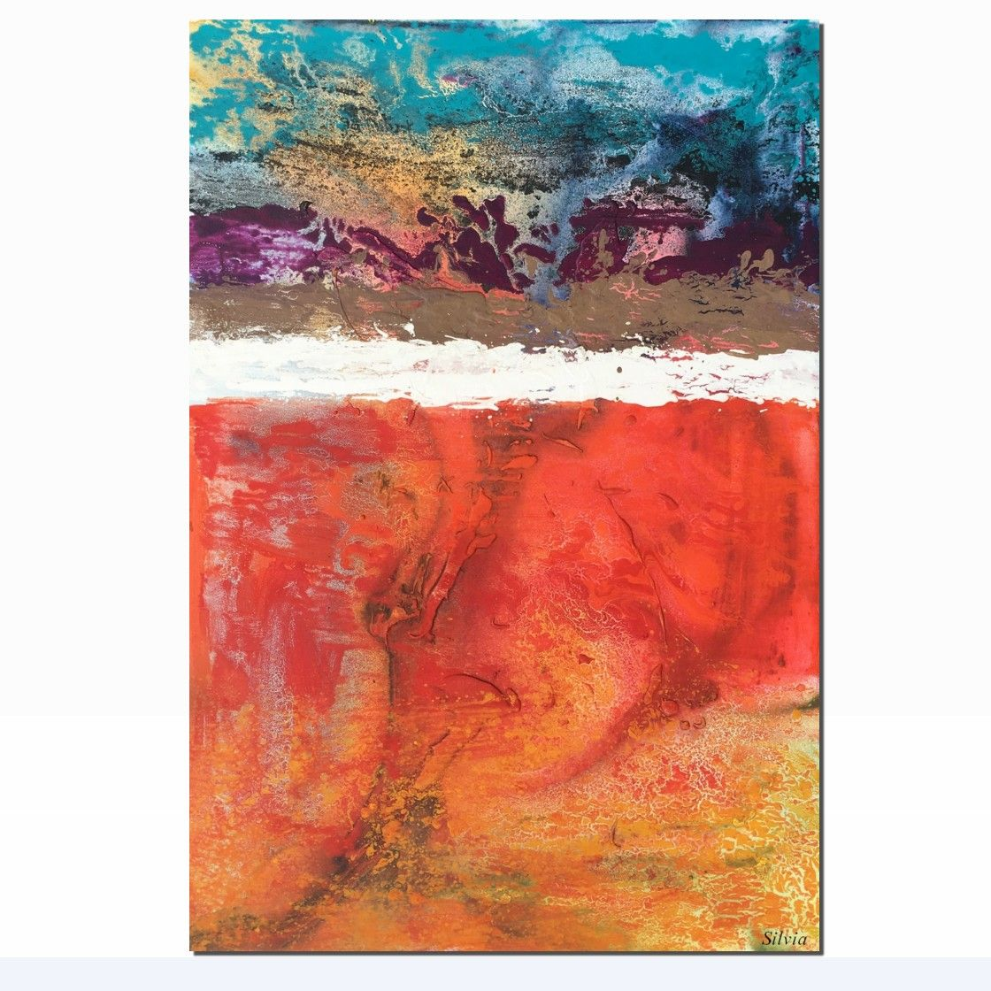 Acrylic Large Abstract Art Wall Art Decor Canvas Painting Large