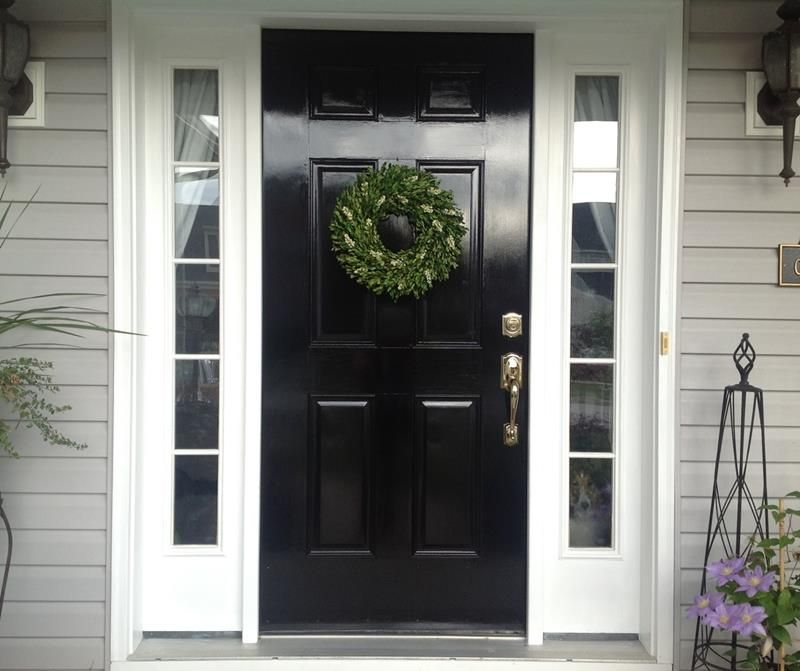 22 Pictures of Homes With Black Front Doors | Black front doors ...