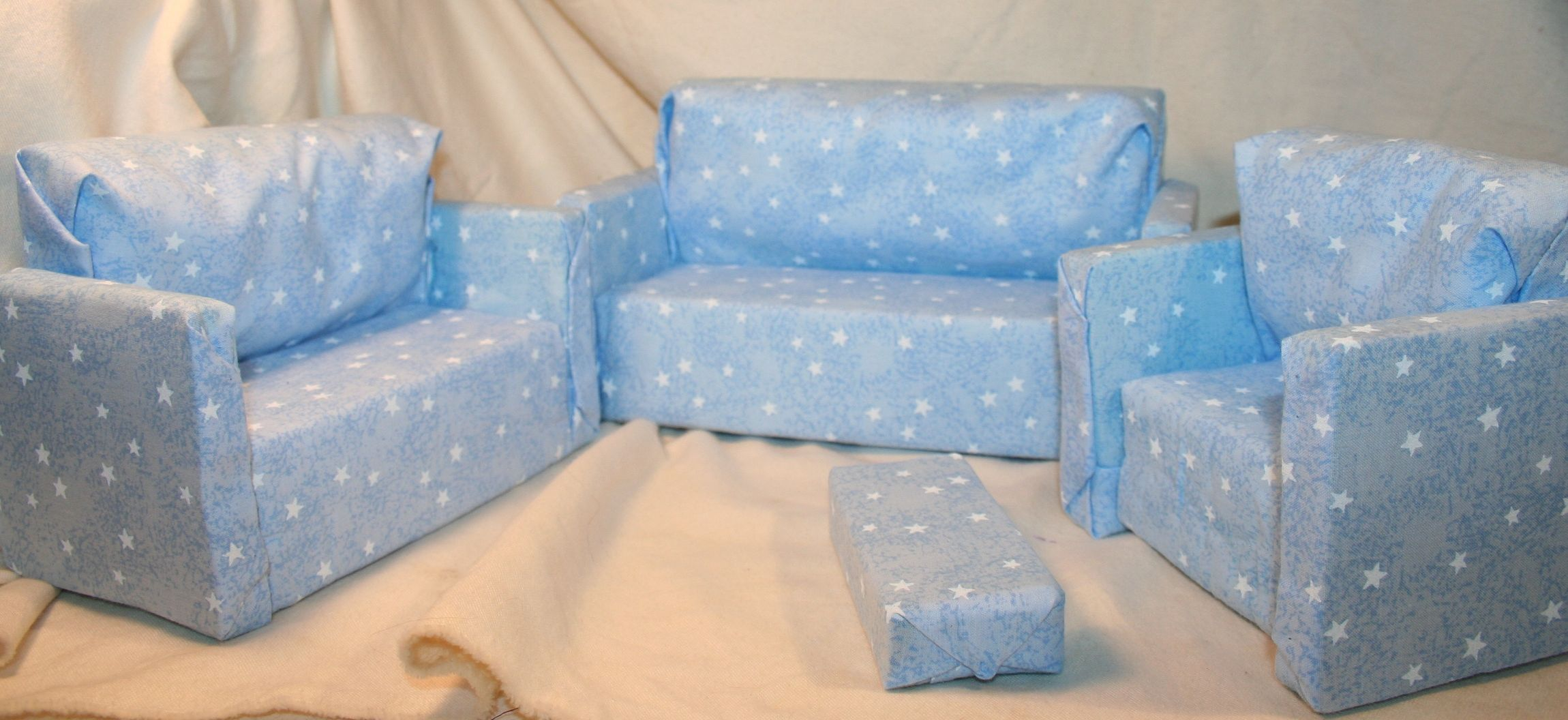 homemade barbie furniture. Homemade Barbie Furniture | Handmade Doll Furniture: Couch And Chair Sets Trail\u0027s Crafts