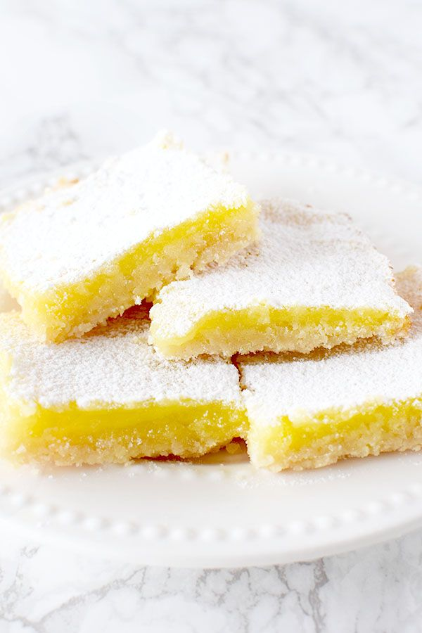 Dairy Free Lemon Bars #dessertrecipes