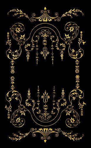 Victorian Border Gold On Black Image 310x500 Pixels Victorian Wallpaper Vintage Borders Art