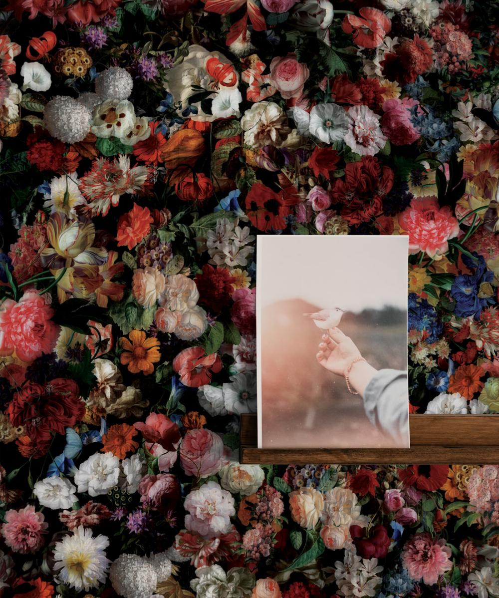 Flower Pool, Dark Moody Flower Wallpaper • Milton & King ...