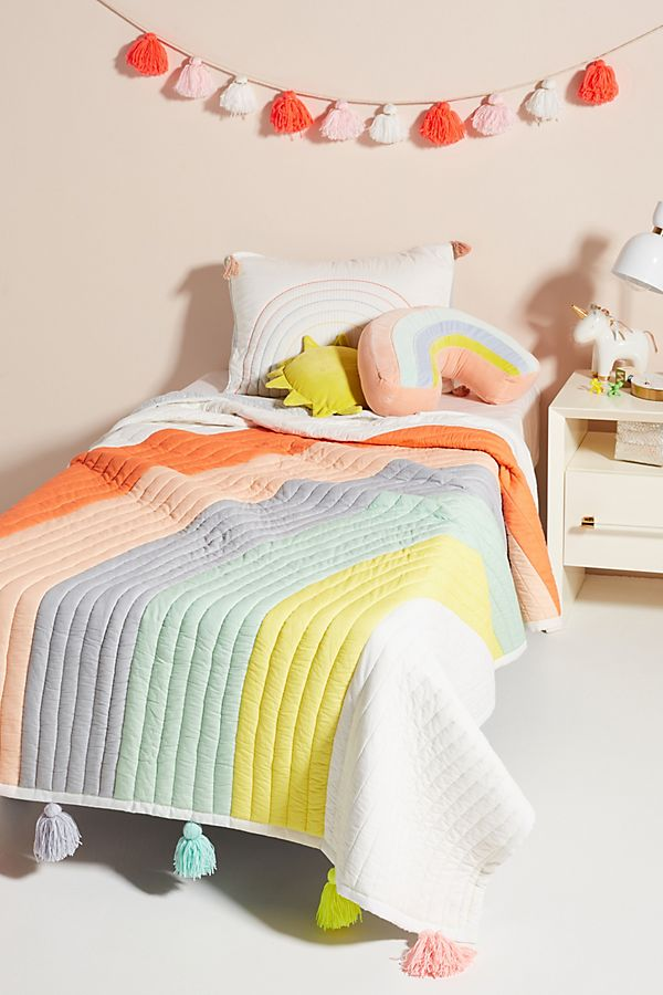 Meri Meri Rainbow Kids Quilt Kids Bedding Sets Childrens Room Decor Kid Room Decor