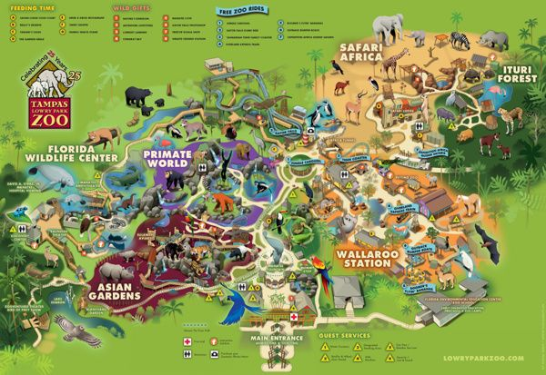 Lowry Park Zoo Map Lowry Park Zoo, Florida by Martin Schwartz, via Behance | MAP
